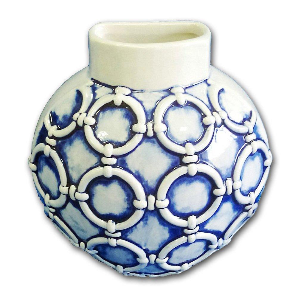 Turtle King Blue Wall Vase