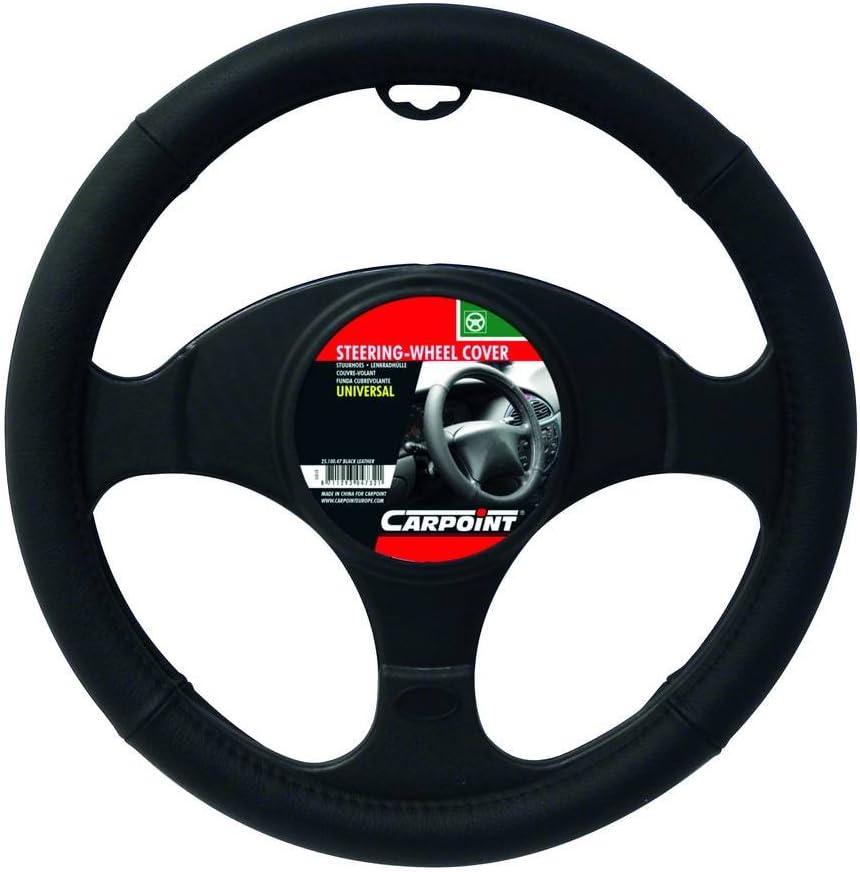Carpoint 2510075 Universal steering wheel cover black velvet