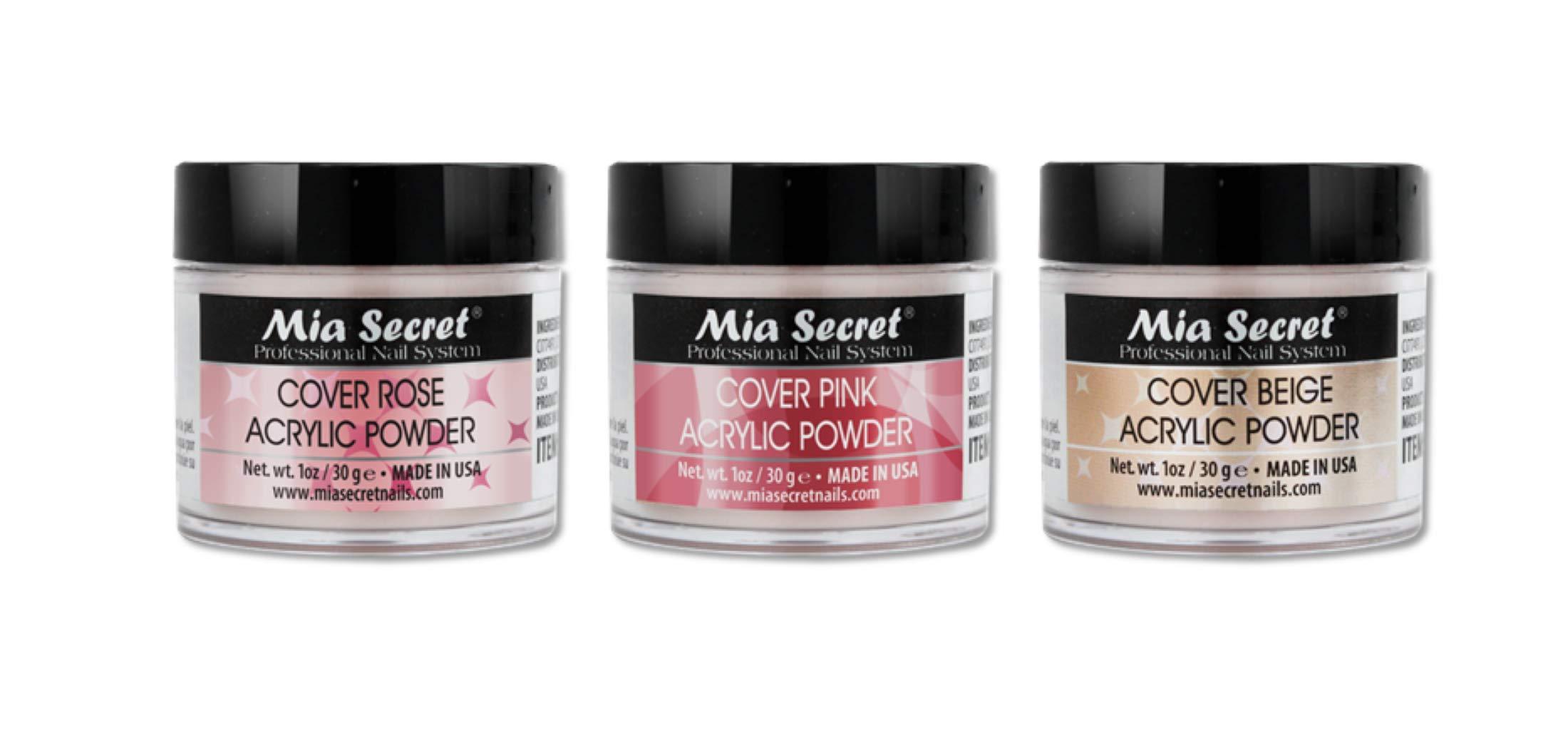 MIA Secret Cover Powder 3 Pc Set - Pink/Beige/Rose 1.0 Oz
