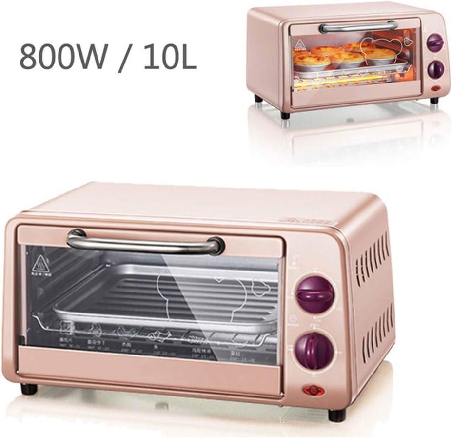 220V 10L multifuncionales hornos de microondas automática mini horno eléctrico horno para hornear Inicio de control libre de la temperatura de color rosa 800W