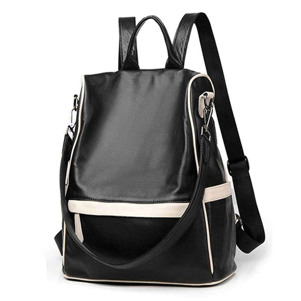 G&L レディース バックパック 財布 レザー ファッション 旅行 カジュアル 取り外し可能 クロスボディ レディース ショルダーバッグ 旅行バッグ ブラック B07N2QZ1NV ブラック