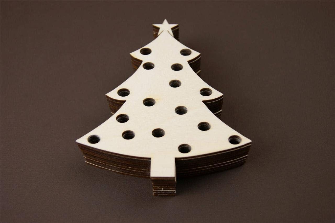 10 x Weihnachtskugel Weihnachtsbaum Tannenbaum Weihnachten Chrismas Baumschmuck Form Holz Schneemann Basteln Malen Dekoration Winterdeko Wohnen Holzanh/änger Y45