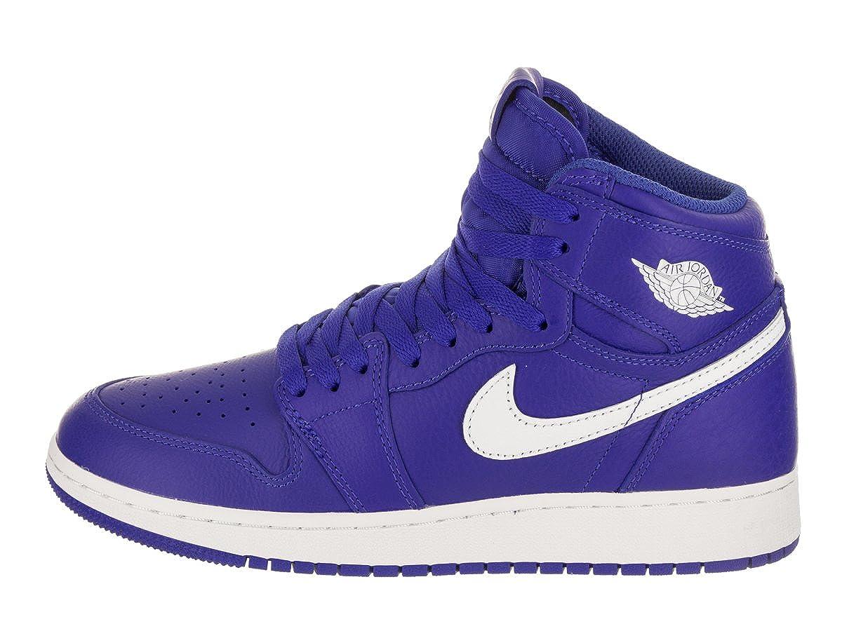 sneakers for cheap f412f f45d7 Amazon.com   Jordan Nike Air 1 Retro High Hyper Royal OG GS Kids 575441-401    Basketball