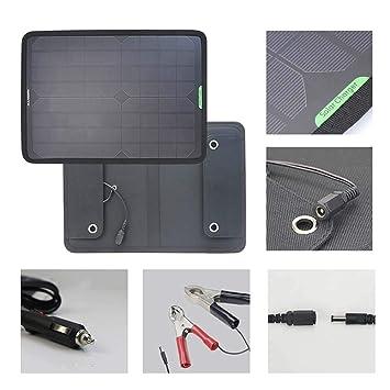 Electz 18V 10W Solar Coche Cargador de batería Paquete de ...