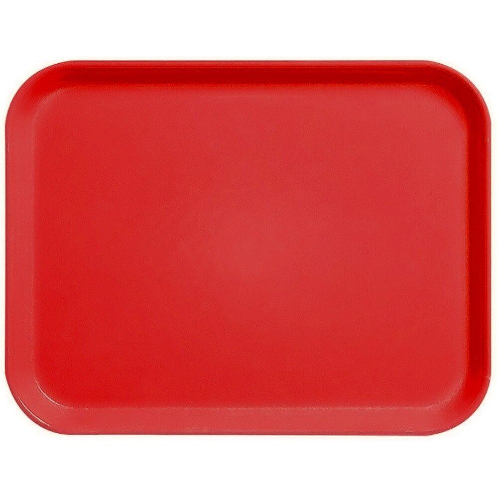 Cambro 15'' x 20'' Fiberglass Food Trays, Economy Line, 12PK Steel Red 1520CL-675