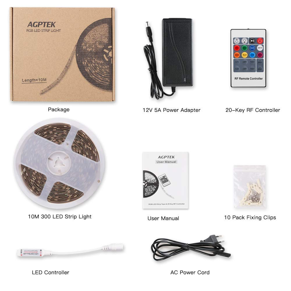 AGPTEK LED-Streifen Mehrfarbig RGB fr die Dekoration: Zimmer mit ...