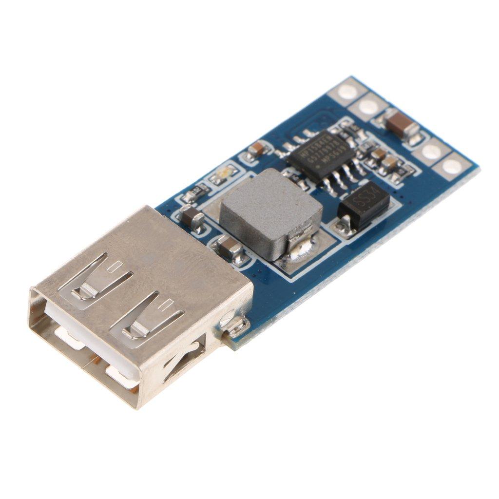Baoblaze DC-DC USB Step Down Spannungsregler-Modul Schritt nach unten Aufladen Board F/ür Mobiltelefon Kommunikationsger/äte Stromversorgung