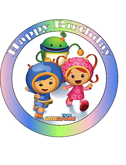 Astounding Team Umi Zoomi Happy Birthday Edible Sugarette Cake Topper 7 5 Personalised Birthday Cards Paralily Jamesorg