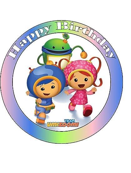 Miraculous Team Umi Zoomi Happy Birthday Edible Sugarette Cake Topper 7 5 Personalised Birthday Cards Arneslily Jamesorg