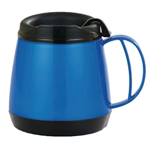 Sammons Preston Wide Body Thermo Mug, Adult Insulated Sippy Cup, Foam Insulation Maintains Temperature of Hot & Cold Drinks, Durable Cup with Unbreakable Plastic Lining with Ergonomic Handle, 20 oz