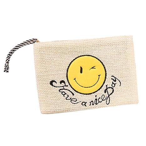 Bolsas de verano de paja de playa Las mujeres tejen el bolso ...