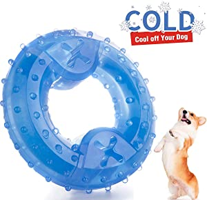 ZNOKA Pet Products Arctic Freeze Fetch Food Cooling Teether Chew Toy
