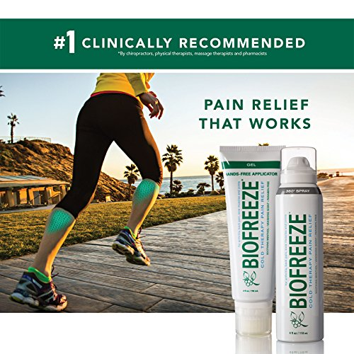 Biofreeze Pain Relief 360 Spray For Arthritis, Cold Topical Analgesic, Fast Acting Cooling Pain Reliever For Muscle, Joint, & Back Pain, Colorless Formula, Case Of 12, 4 Oz. Bottles, 10. Menthol