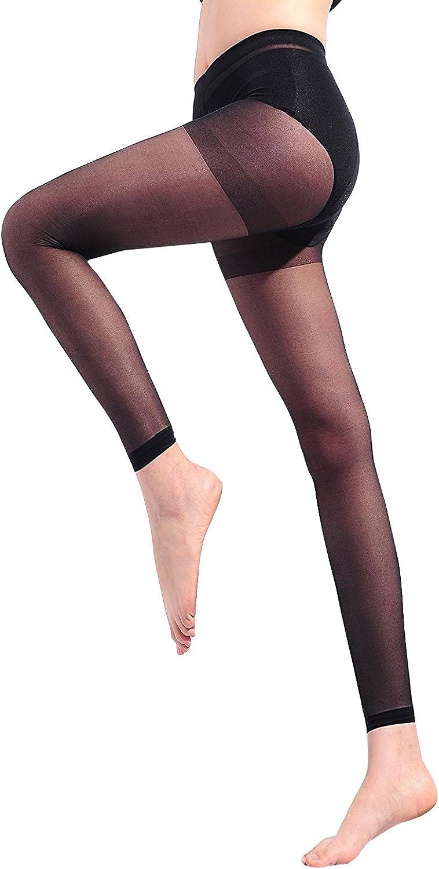 Freebily Mens Ultra Thin See Through Sheer Reinforced Toe Knee High Stretchy Stockings Socks