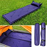 Garden mile® Large Compact Blue Waterproof Self Inflating Roll Up Camping Mat Or Sleeping Mat Portable Festival Blow Up Bed Mattress With Carry Bag.188cm x 57cm