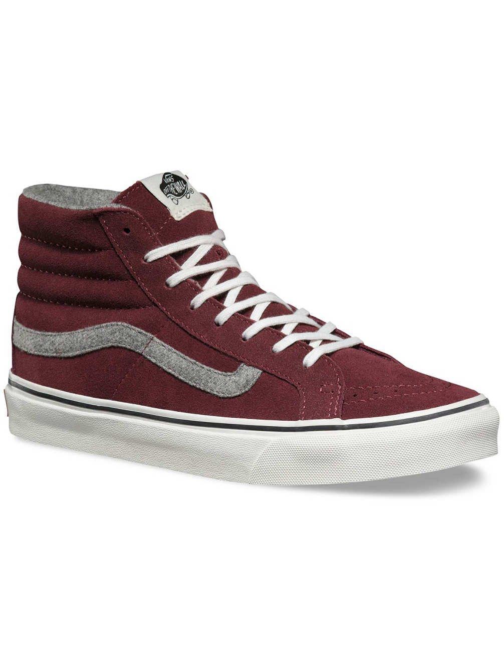 f6b6577e09946c Galleon - Vans Unisex SK8-Hi Slim Sneaker Red Mahogany Vintage Suede