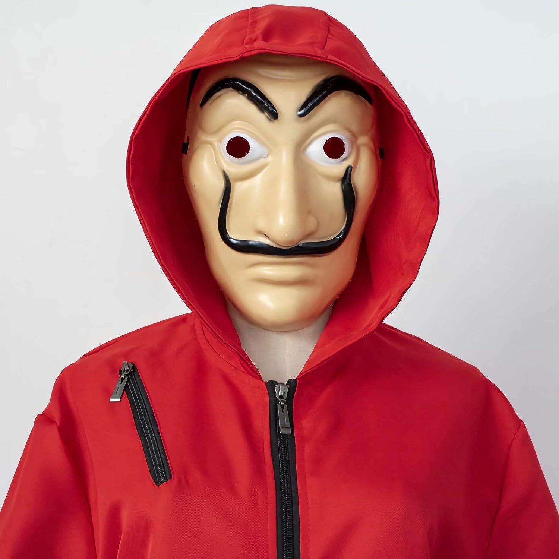 Godmoy Disfraz de Dali Rojo Unisex Disfraz de La Casa De Papel con ...