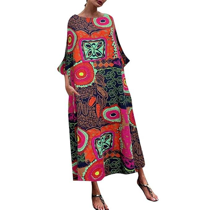 Amazon.com: Xinantime Summer Retro Dresses for Women Boho ...