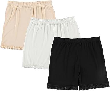 Liang Rou Spandex Mujeres Leggings Cortos 3-Pack: Amazon.es: Ropa y accesorios