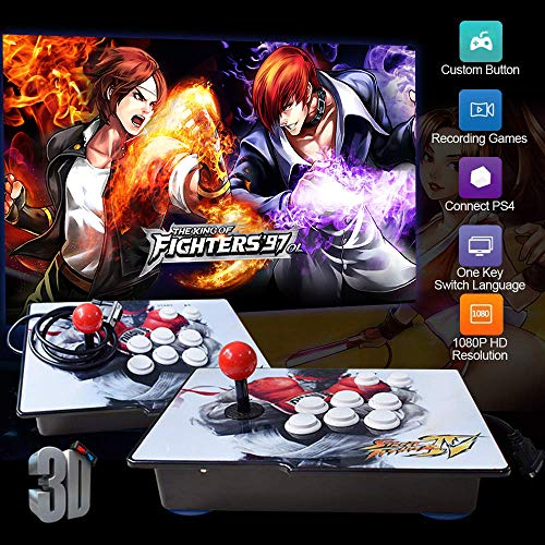 PinPle Arcade Game Console 1080P 3D & 2D Games 2020 in 1 Pandora's Box Kit Classic Arcade Game Machine 2 Players Arcade Machine Arcade Joystick Support Expand 6000+ Games for King of Fighters (Player Kings)