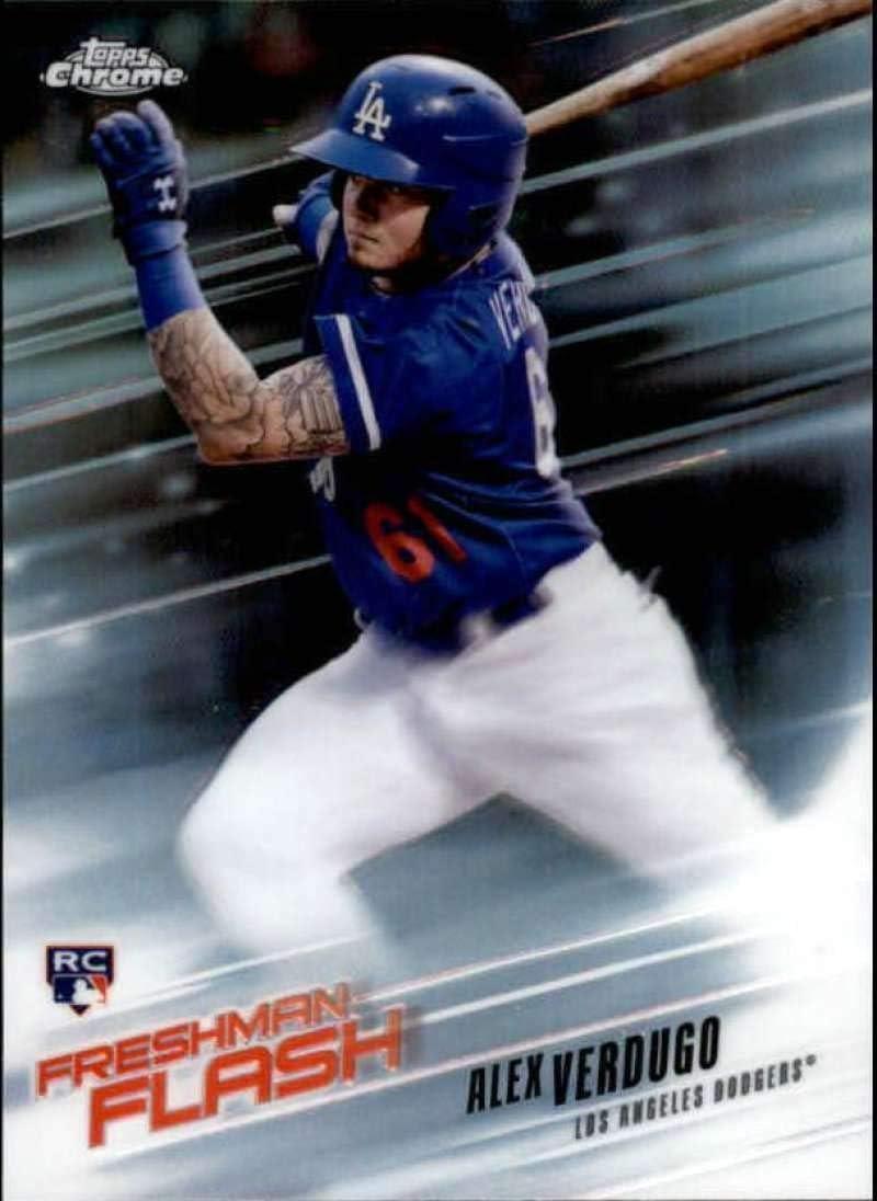 2018 Topps Chrome #167 Alex Verdugo Los Angeles Dodgers Rookie Baseball Card GOTBASEBALLCARDS