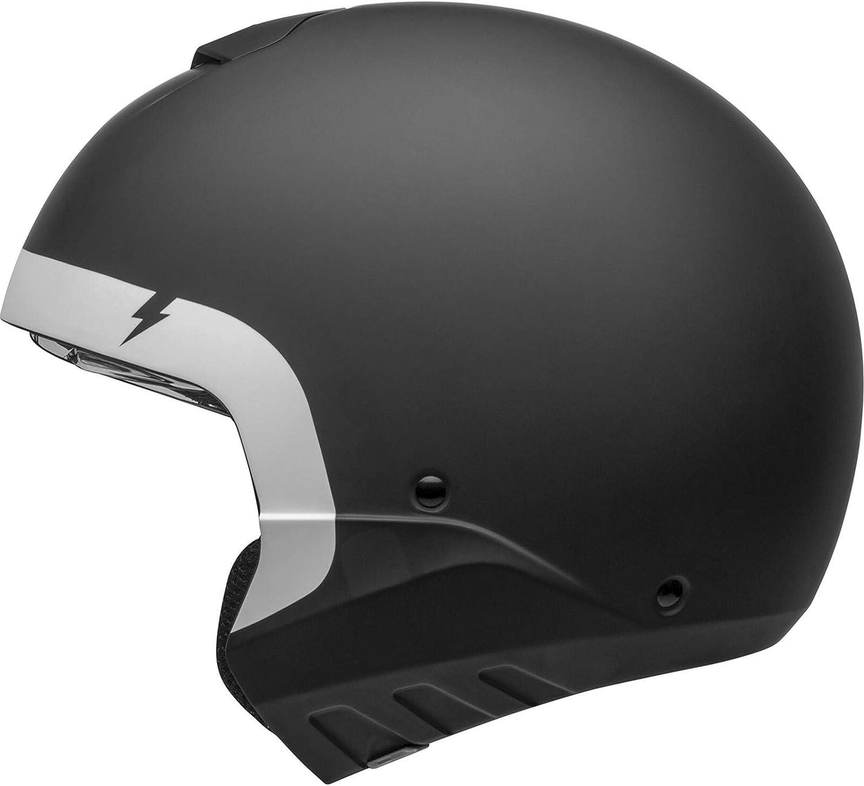 Bell Helmet Broozer Cranium Matte Black White S Auto