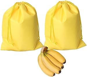 ZENBOO Lightweight & Durable Yellow Banana Storage Bag with Waterproof & Tear-resistance (2 pack)