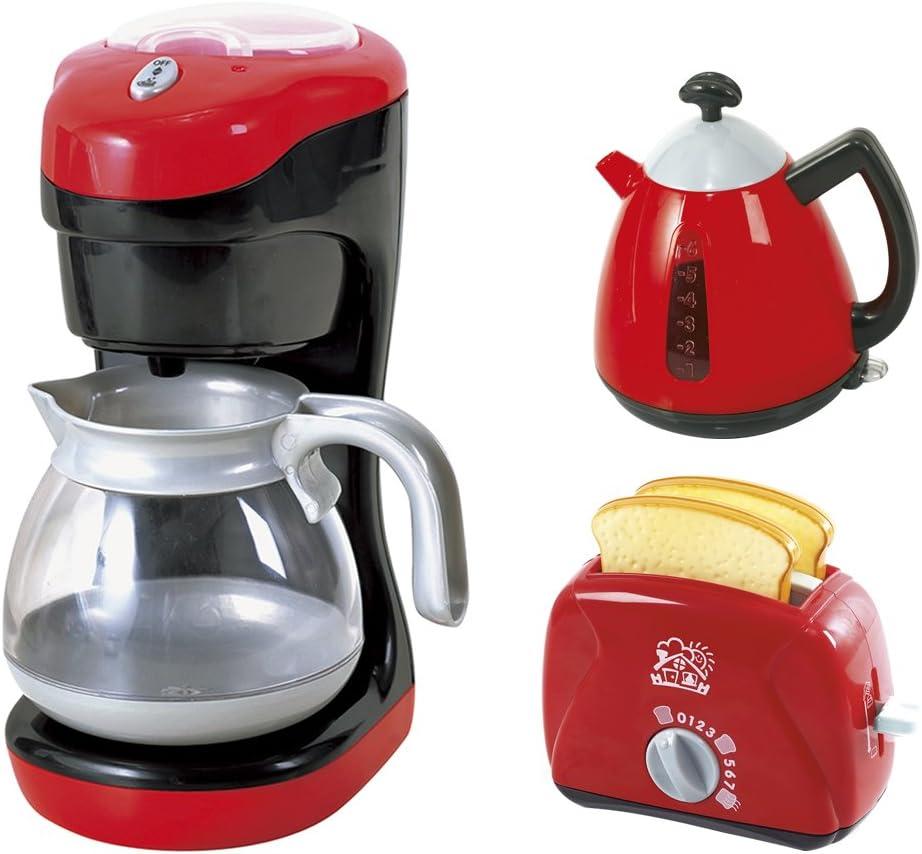 PlayGo - Set desayuno eléctrico: cafetera, tostadora y lechera ...