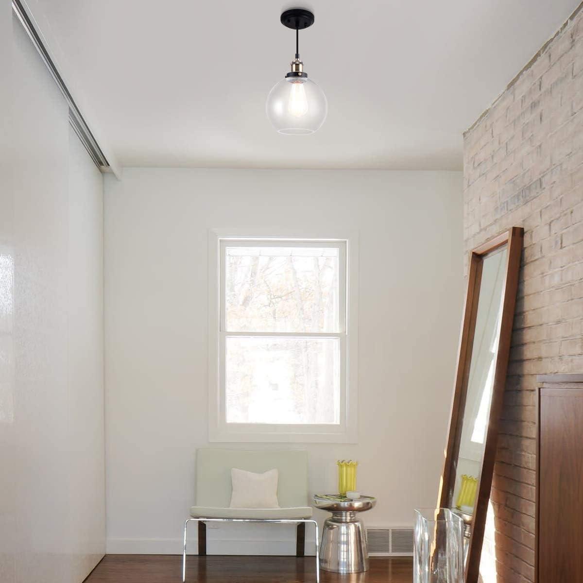 Frideko Deckenpendelleuchte im Vintage-/Industriestil für Zuhause, Büro und Café, glas, 1 Pcs, E27 60.00W 220.00V A-20cm