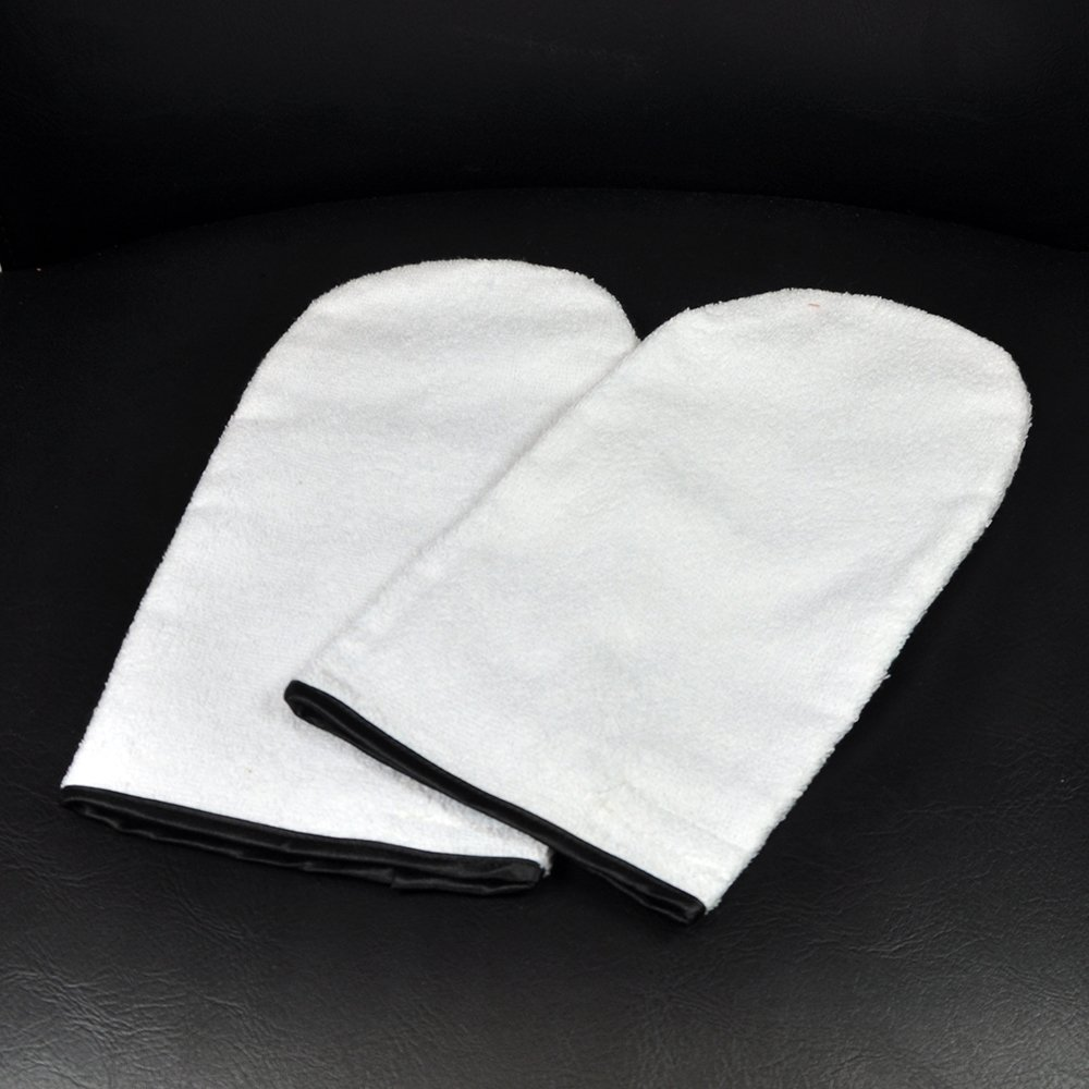 Pair of Manicure / Paraffin Wax Hand Mitts - Cotton Beauty4Less
