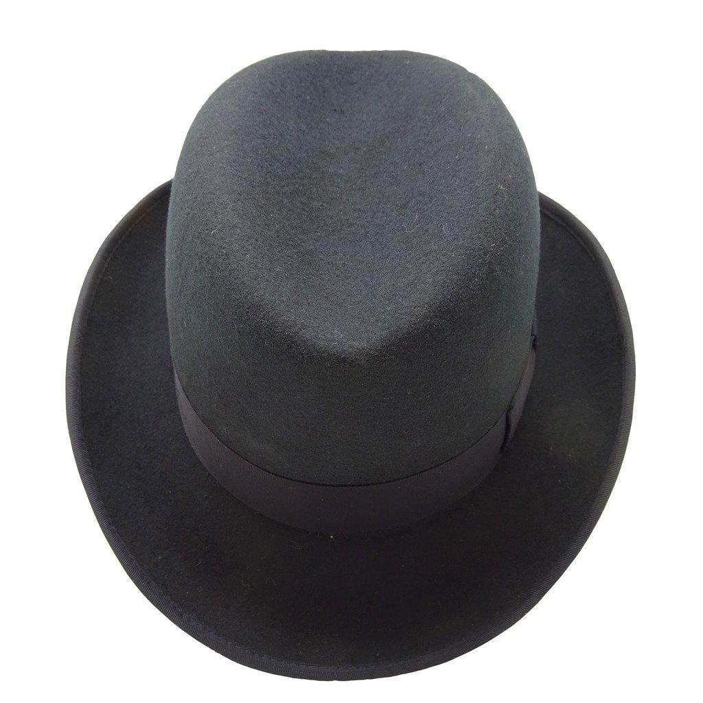 587d237425f HATsanity Unisex Vintage Wool Felt Homburg Hat Navy  Amazon.co.uk  Clothing