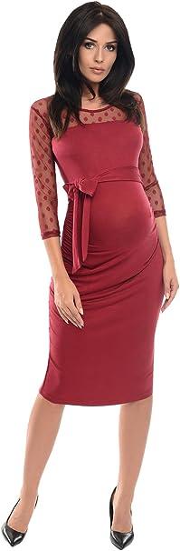 Umstandsm Schwanger Kurzarm Umstandskleid Schwangerschaftskleid Bleistiftkleid