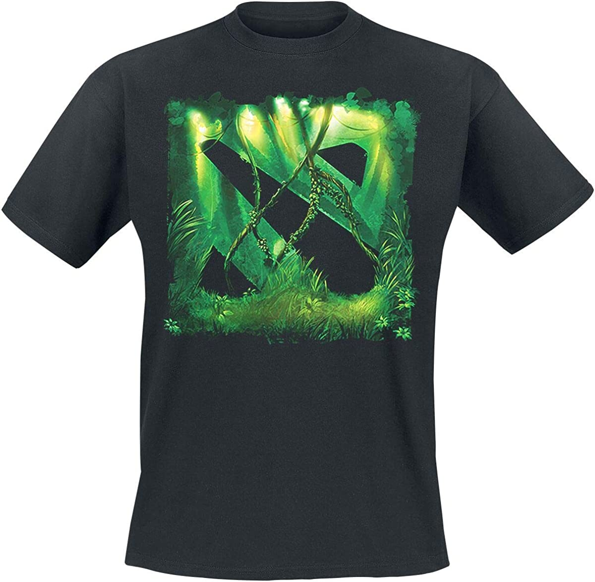 DOTA 2 Logo Jungle T-Shirt Nero