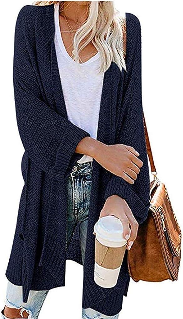 Cardigan in Maglione con Maniche Lunghe A Maniche Lunghe in Maglia da Donna di Moda,Cardigan in Lana Aperto da Donna Maglioni per Le Donne Momoxi Cardigan Donna