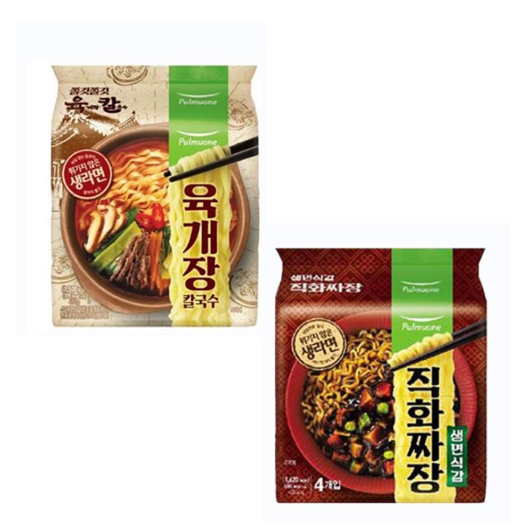 [Ramen SET] Jajang Black Bean Noodles + Yukgaejang kalguksu, Noodles NOT Fried Noodle Real Ramen,Korean Food (16EA)