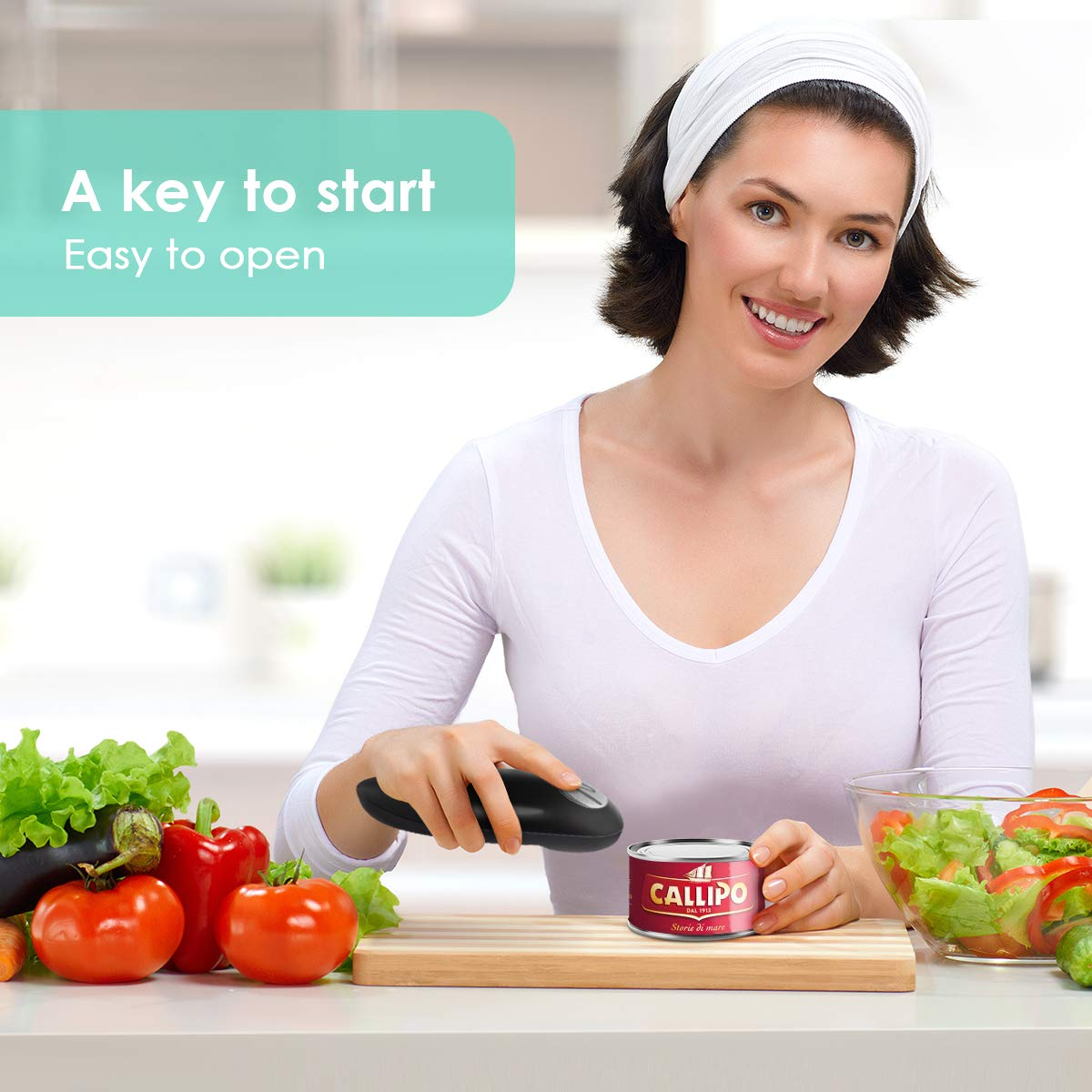 Electric Can Opener, Smooth Edge Mini Restaurant Can Opener for Any Size, Best Kitchen Gadget for Arthritis and Seniors by instecho (Image #7)