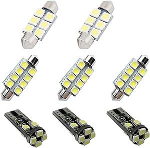 For Jeep Patriot Wrangler Led Interior Lights Led Interior Car Lights Bulbs Kit White 8pcs 2007-2017