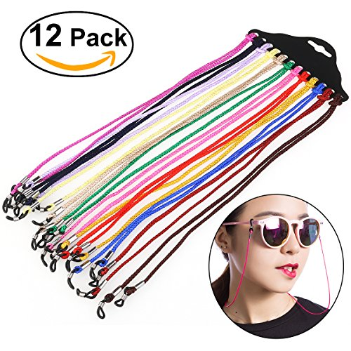 NUOLUX Eyewear Cord Neck String Spectacle Frame Holder 12pcs(Random - Spectacle Strings
