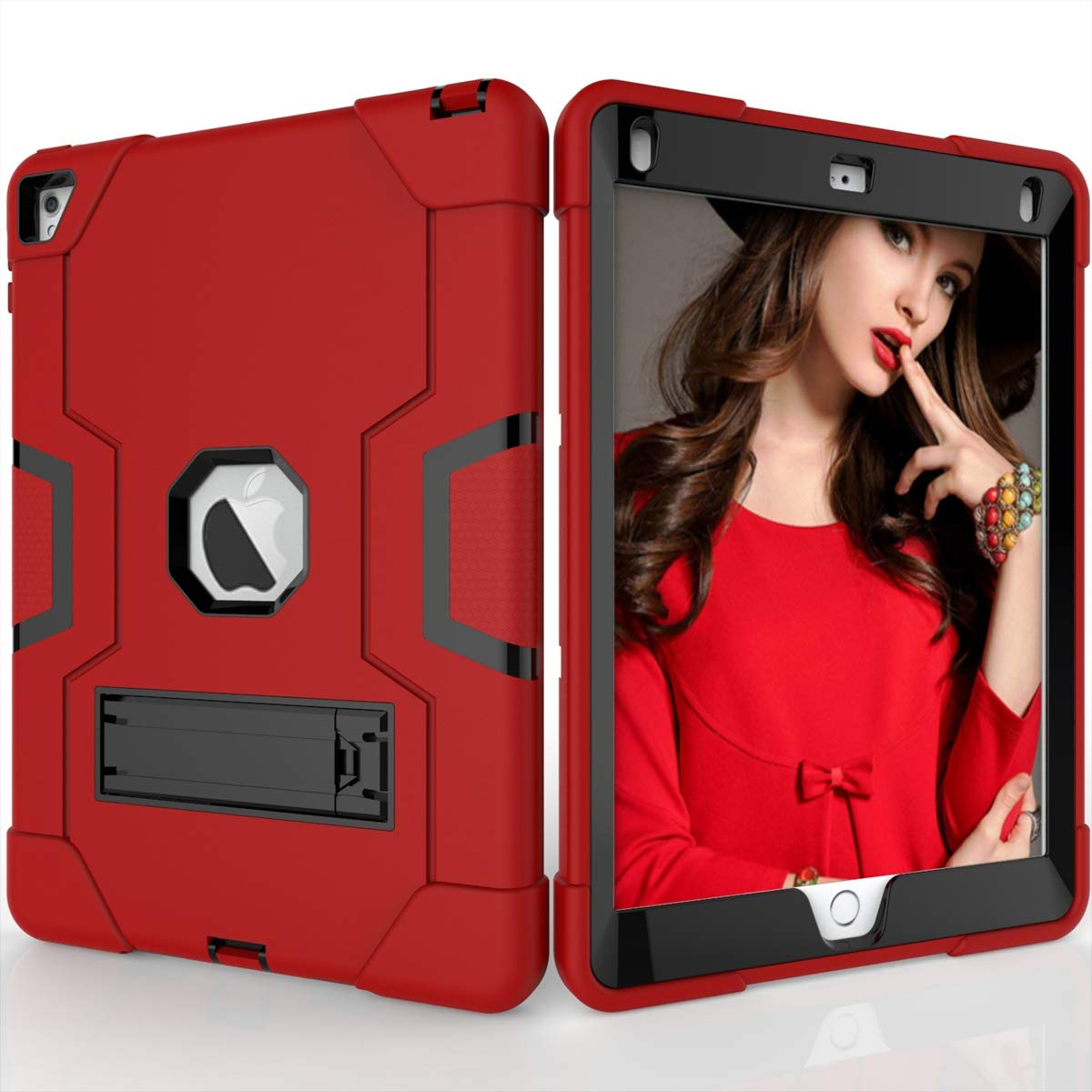 品質のいい Happon iPad Air 2 Red iPad 6 ケース B07L4CPH38 ポータブル Black 携帯電話プロテクター 超薄型カバー, VFBH-HR-701 Red + Black B07L4CPH38, ECOTOOL MARKET:0f1e36ee --- a0267596.xsph.ru