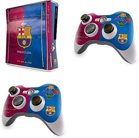 FC Barcelona – Skins para Xbox 360 Slim Consola + Controladores X 2 Fútbol Club tienda regalo: Amazon.es: Deportes y aire libre