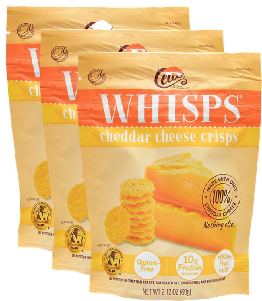Whisps Cheddar Cheese Crisps 2.12 oz (3 Pack)