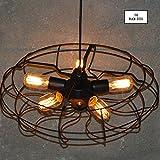 Flywheel Industrial Pendant Lamp by The Black Steel
