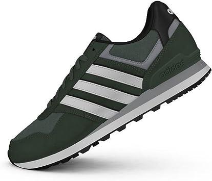 adidas 10K - Zapatillas Deportivas para Hombre, Verde - (VERTRA/FTWBLA/Negbas) 40: Amazon.es: Zapatos y complementos