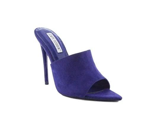 4ebdf6238151 Image Unavailable. Image not available for. Color  Shoes2Die4 Cape Robbin  Cece Blue Suede Pointed Peep Toe Mule