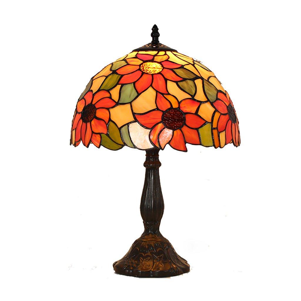12 Zoll-b Fonly Tischlampe Schlafzimmer Wohnzimmer Studie Schreibtisch Lampe Harz Legierung Basis Glas Lampe Abdeckung Led Warme Beleuchtung Innenlampe 12 Zoll