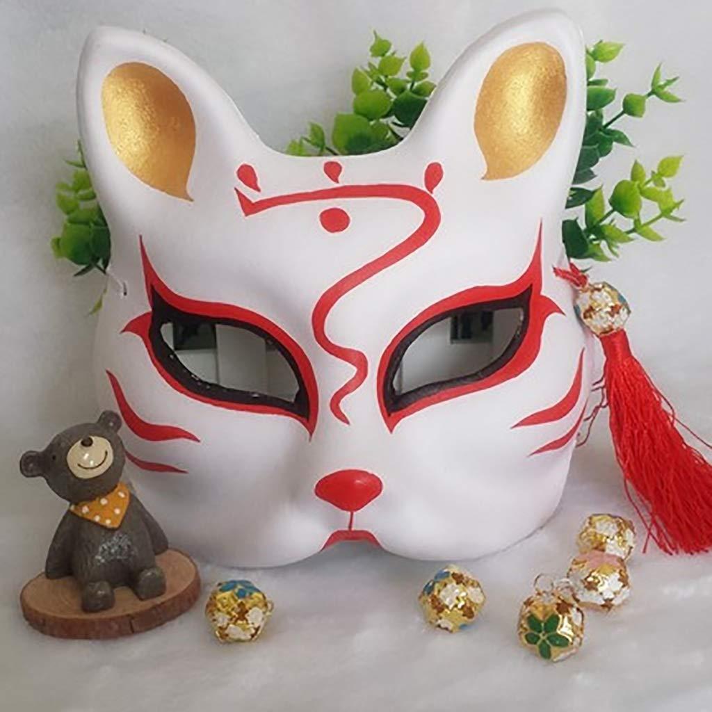 FYPmj Maschera Marshmello dj Maschera Mezza Faccia di polpa di Volpe, Maschera da palcoscenico Pesante da 30 g Dipinta a Mano (colore   Plastic, Dimensioni   F.)