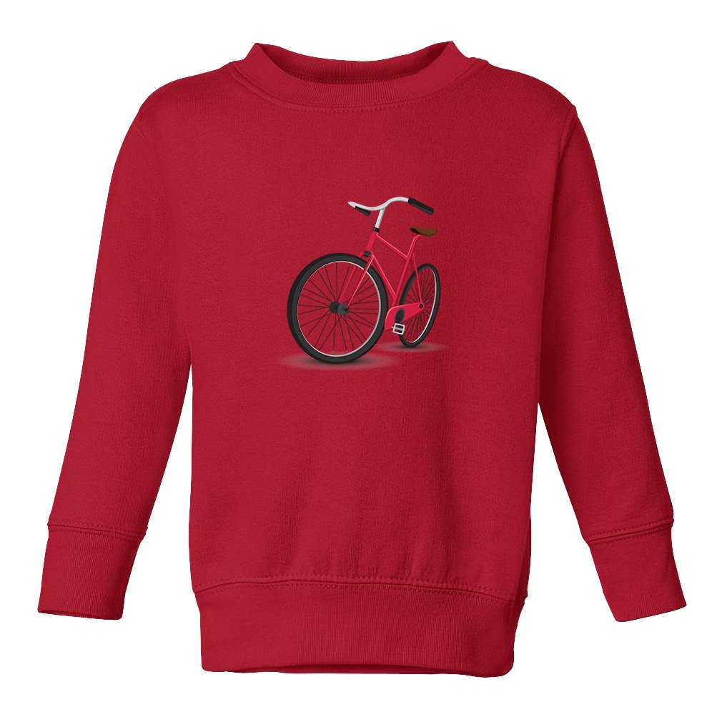 Cute Rascals Bicycle Red 60/40 Cotton/Polyester Fleece Unisex Toddler Sweatshirt Pullover SWTNCAR0103