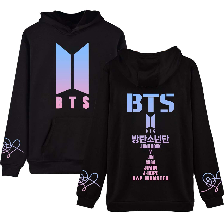 BTS Love Yourself Hoodie Suga V Jung Kook Jimin World Tour Sweatshirt  Pullover at Amazon Women s Clothing store