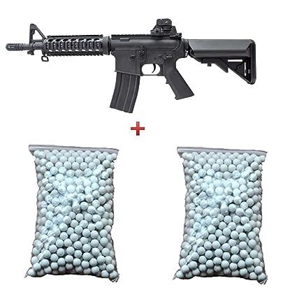 Cyma Pack regalo Fusil de asalto para Airsoft, M4 CQB RIS de resorte, negro
