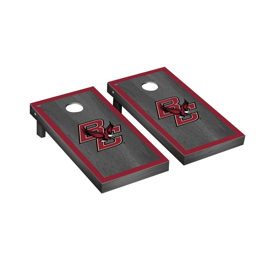 Victory Tailgate Boston College Eagles Regulation Cornhole Game Set Onyx Stained Border Version